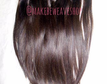 """26"""" CUSTOM Superior Quality 100% Remy Russian Human Hair Double Drawn Seamless 10pc Clip in Hair Extensions"""