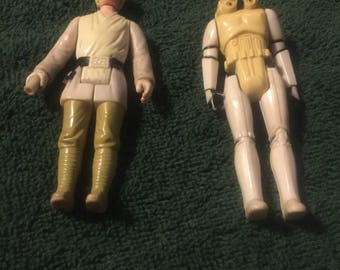 Original Star Wars Action Figures Luke Sky WalkerStorm Toopet