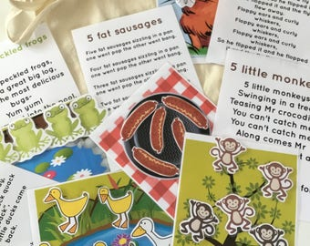 EYFS Song sack bag Childminder nursery Toy resource reception foundation stage numeracy counting skills