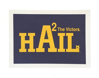University of Michigan Notecards/HAIL/The Victors/Michigan Notecards with Envelopes/Michigan Gifts/Michigan Wolverines