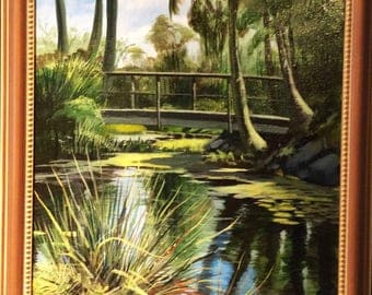 Original painted on location, Mounts Botanical Gardens, West Palm Beach,Florida