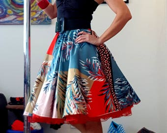 Rockabilly Skirt with red petticoat