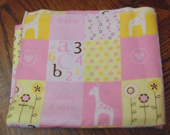Pink and Yellow baby blanket