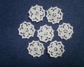 Pinwheel crochet clothing decoration or trinkets