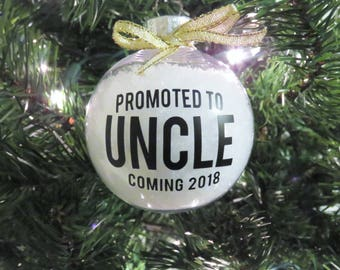 Uncle Pregnancy Announcement Ornament. New Uncle Gift. Uncle Ornaments. Uncle Pregnancy Reveal. Uncle Ornaments. Christmas Tree Ornaments.
