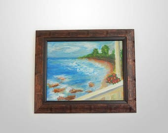 View towards the sea – painting, scenery. It is suitable for a gift or just making as a complement to your office or home.
