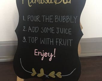 Custom Chalkboard- Menu sign