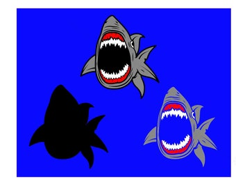 Shark SVG and Studio 3 Cut File Cutouts Download Files for Cricut Silhouette Brother SVGs Sharks Sea Creature Fish Ocean