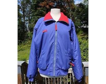 VTG Men's Columbia Blue and Red Jacket, Columbia Jacket, Columbia, Vintage Columbia, Men's Jacket, Vintage Men's Jacket, Gift for Him