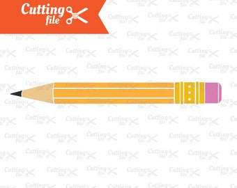 Pencil SVG, DXF, PNG, Eps | Teacher Svg | Back to School svg | School Svg | Silhouette & Cricut