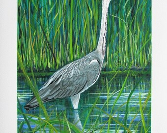 A4 Giclée Print entitled 'Fifty Shades of Grey and Green' from an original acrylic painting by artist Martin Romanovsky