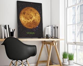 VENUS POSTER - Home Decor - Wall decor - Office decor - Solar system