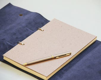 Refillable Leather Journal, Writing Journal, Leather Journal, Leather Journal Refillable, Leather Notebook, Notebook A5, Blue Notebook