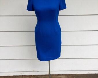 Vintage 90s Royal Blue Dress by Jacqueline Ferrar
