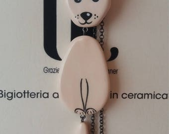Chihuahua ceramic articulated necklace