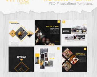 The Moscow Edition | PSD Photoalbum Templates | for city-trip / vacation / journey albums