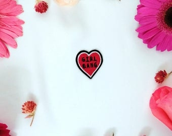 girl gang heart patch-iron on patch-embroidered patch -patch for girl