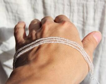 Wire 15cm stone of moon 1.5 x 2mm white blue - stone semi-precious natural gemstone jewelry by Myo supply DIY