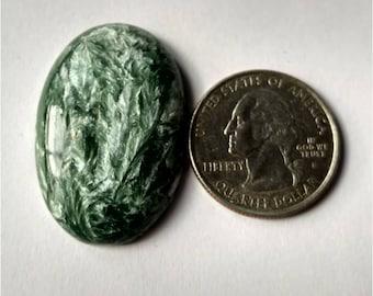 35.90 x 24.25mm,Ovel Shape Seraphinite Russian Cabochon /Attractive Seraphinite /wire wrap stone/Super Shiny/Pendant Cabochon/Semi Precious