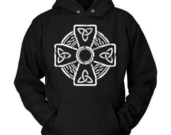 Irish Celtic Cross Trinity Knot Hoodie