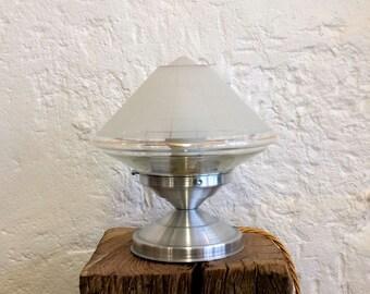 Table lamp, bedside lamp, vintage old globe desk lamp granite glass diameter 20 cm