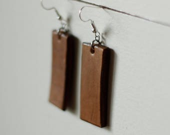 Ingrid Tan Earrings | Leather Earrings | Birthday Gift | Anniversary Gift | Gifts under 25 | Handmade | Gifts for Her