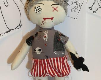 Goth Doll, Art Doll, Keepsake, Fun Doll