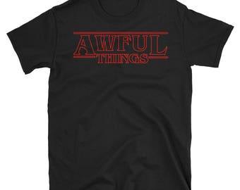 Lil Peep Shirt / Lil Peep x Stranger Things T-Shirt / Awful Things / Lil Peep Goth Boi Clique Shirt