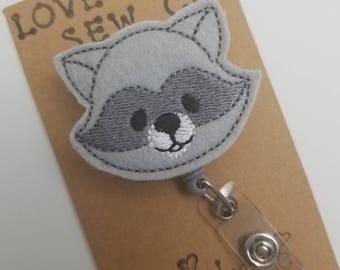 Racoon Retractable ID Badge