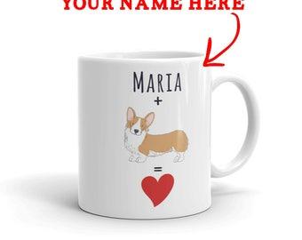 Corgi Gift - Personalized Corgi Mug - Custom Name Gift For Corgi Lovers - Corgi Mom - Corgi Dad - Dog Lover Gift