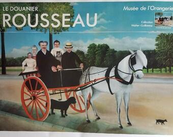 1980s Henri Rousseau French Art Exhibition Poster - Original Vintage Poster