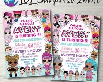 LOL SURPRISE Invitation, LOL Surprise Doll Party, Lol Doll Invitation, Lol Doll Birthday Party Lol Surprise Party Invitation, Lol Doll Party