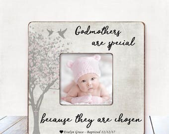 Godmother Gift Baptism Gift Godmother Christening Gift Godmother Frame Godparents gift from Godchild Personalized Picture Frame baptism gift