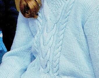 Children's Jumper, Knitting Pattern, Instant Download.