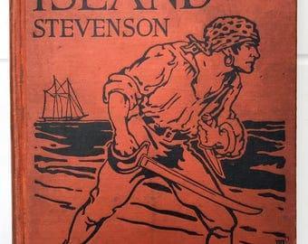 1924 Treasure Island by Robert Louis Stevenson book hardcover illustrated