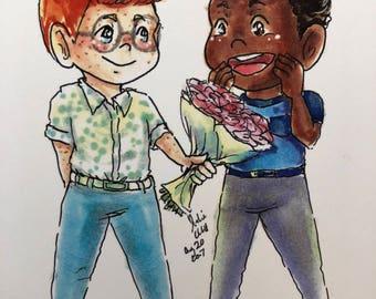 Custom Gay couple anniversary card