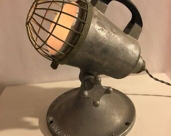 Vintage Antique Restored Firefighter's Lamp