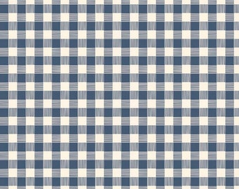 Blue Plaid Flannel, Flannel Fabric, Fabric by the Yard, 100% Cotton Fabric, Blue Gingham, Apparel Fabric, Quilt Cotton Flannel,Riley Blake