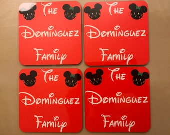 Personalized Christmas Coasters - Set of 4