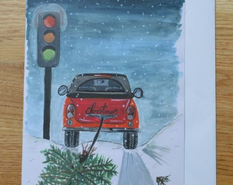 A5 'I'll be home for Christmas' Greetings card