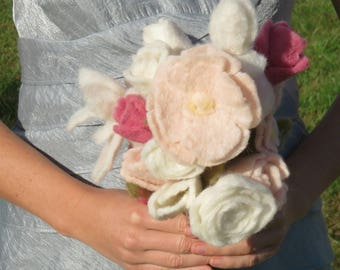 Pink Spring Bridesmaid Bouquet and Gift