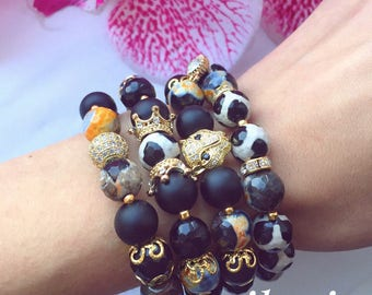 bracelet from natural stones