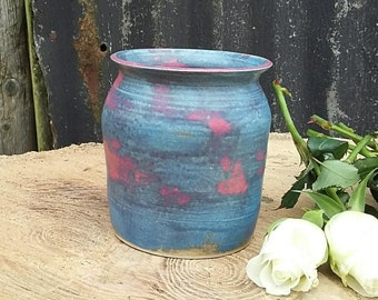 Small stoneware 'Damson and Sloe' vase
