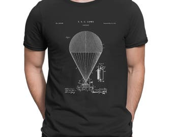 Hot Air Balloon Inflating T-Shirt Patent Art Gift, Balloon T-shirt, Balloonist T-shirt, Balloon Patent, Pilot Gift, Aviation Gift P272