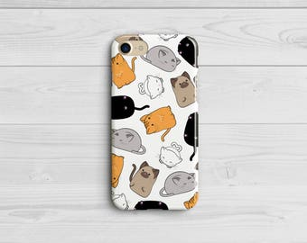 Cat Phone Case, Cat Lover Gift, Cute iPhone Case, Cat iPhone 6 7 8 X Case, Samsung Galaxy S8 Plus, Kawaii Kitten, Animal Case, Cat Lady