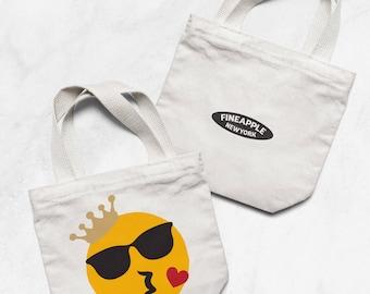 Kissing Emoji Small Tote Bag