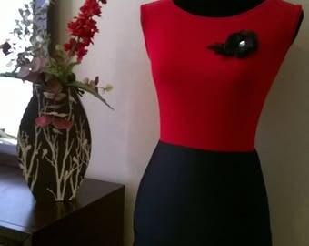 Black & Red Ruffled skirt