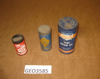 Allstate, Fix-tite, Goodyear tube repair kit tins  lot of 3   [geo3585bt]