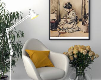 Art Print : Old Japanese painting