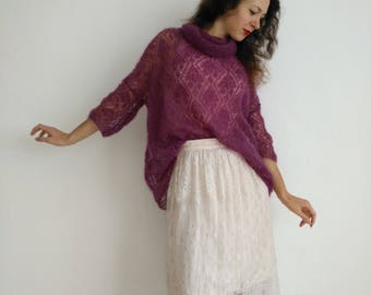 Oversize mohair pullover